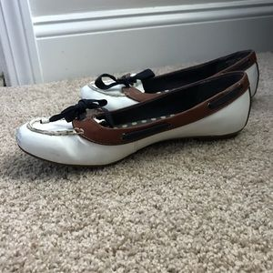 Navy, white and brown Sperry Top-Siders size 8.5